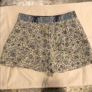 TIBI Silk Ruffle Shorts